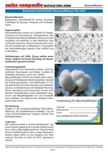 Baumwollflocken - Suter Swiss-Composite Group