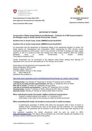 Tender invitation document ngo capacity project invitation to tender construction of water supply admin stopboris Choice Image