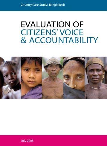 Country Case Study: Bangladesh