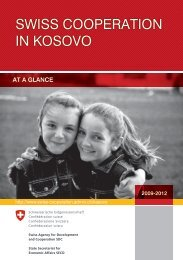 SWISS COOPERATION IN KOSOVO - admin.ch