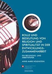 ROLLE UND BEDEUTUNG VON RELIGION UND ... - Deza - admin.ch