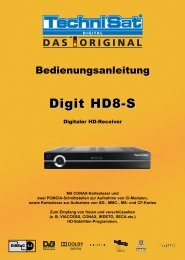 10 Betrieb an einer Drehanlage (DiSEqC 1.2) - AustriaSat