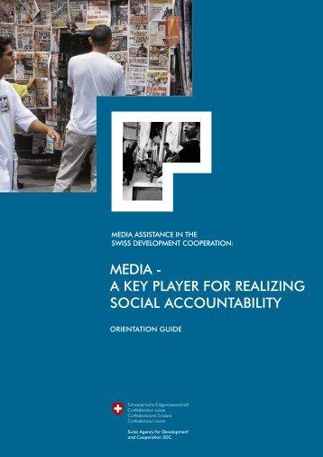 media - a key player for realizing social ... - Deza - admin.ch