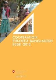 Cooperation Strategy BangladeSh 2008–2012 - Deza - admin.ch