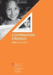 Cooperation Strategy Serbia 2010 - 2013 - Deza - admin.ch