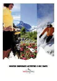 Winter Corporate activities 1 or 2 days - Swiss-Discovery