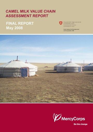 CAMEL MILK VALUE CHAIN ASSESSMENT REPORT FINAL ...