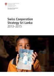 Swiss Cooperation Strategy Sri Lanka 2013–2015 - Deza - admin.ch