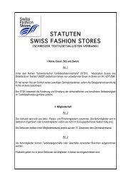 STATUTEN SWISS FASHION STORES