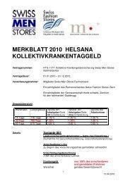 MERKBLATT Helsana 2010 - Swiss Fashion Stores