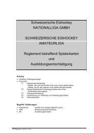 Schweizerische Eishockey NATIONALLIGA ... - Swiss Ice Hockey