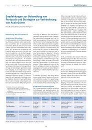 Empfehlungen zur Behandlung von Pertussis und Strategien zur ...