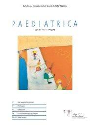 Bulletin der Schweizerischen Gesellschaft für Pädiatrie Vol. 24 Nr. 4 ...