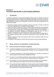 Pneumologie - Société suisse de pédiatrie