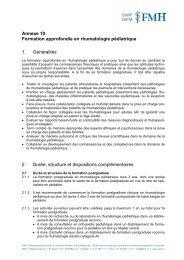 Annexe 10 - Société Suisse de Pédiatrie