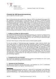 Protokoll Generalversammlung Luzern 2012