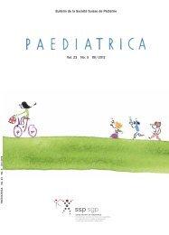 version iPad - Société suisse de pédiatrie