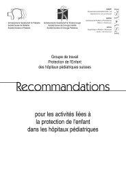 Recommandations pour les activités liées à la protection de l'enfant ...