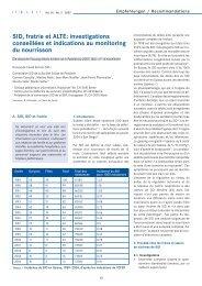 SID, fratrie et ALTE - Société suisse de pédiatrie