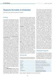 Atopische Dermatitis im Kindesalter