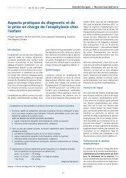 Aspects pratiques du diagnostic et de la prise en charge de l ...