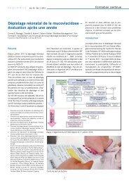 Dépistage néonatal de la mucoviscidose - Société suisse de pédiatrie