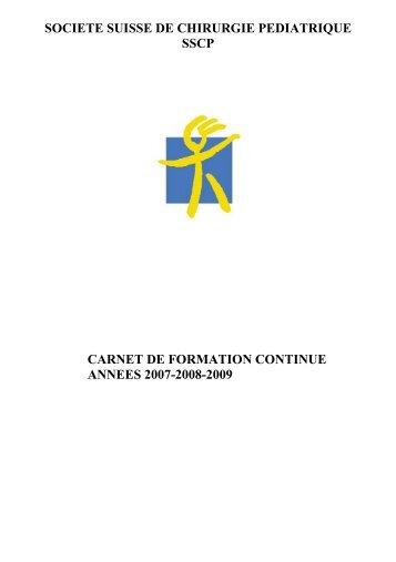 Catégorie I Formation continue spécifique - Société suisse de ...