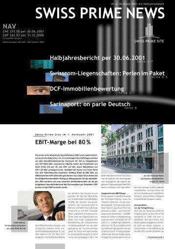DCF-Immobilienbewertung Halbjahresbericht per ... - Swiss Prime Site