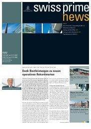 Dank Bestleistungen zu neuen operativen ... - Swiss Prime Site