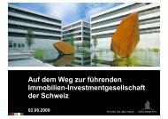 Präsentation zum Umtauschangebot für Jelmoli - Swiss Prime Site