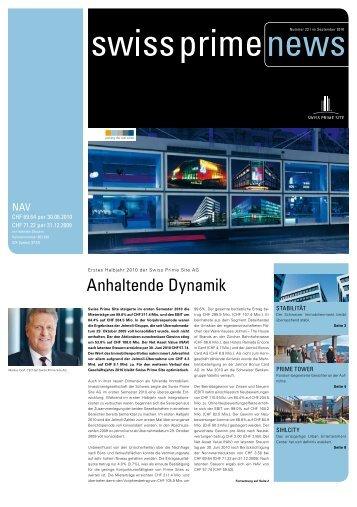 Anhaltende Dynamik - Swiss Prime Site