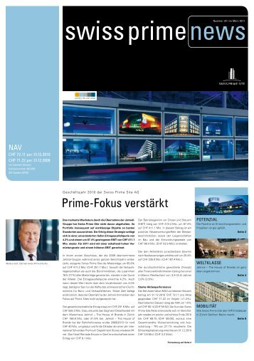 Prime-Fokus verstärkt - Swiss Prime Site