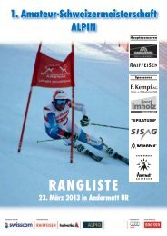 Die Rangliste (266 KB) - Swiss-Ski