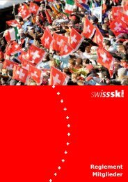 Reglement Mitglieder - Swiss-Ski
