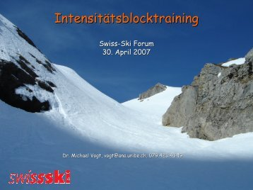 Neue Aspekte des Ausdauertrainings - Swiss-Ski