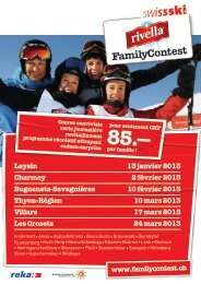 Flyer Rivella Family Contest - Swiss-Ski