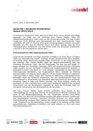Swiss-Ski | Nordische Kombination Saison 2013/2014