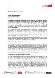 Swiss-Ski | Biathlon Saison 2013/2014
