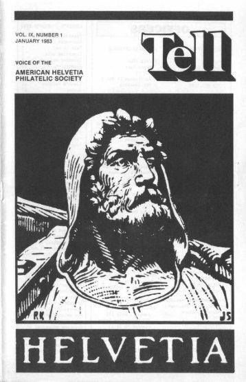 Tell Journal January 1983 Issue - American Helvetia Philatelic Society