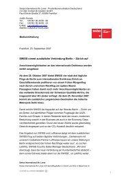 20.09.2007: SWISS nimmt zusätzliche Verbindung Berlin - Zürich auf