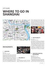 WHERE TO GO IN SHANGHAI - Swiss