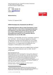 02.09.2008: SWISS Herbstspecials: Nordamerika ab 409 Euro