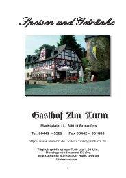Speisekarte - Gasthof am Turm