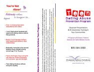 Teen Dating Abuse Prevention Program - Domestic Violence Solutions