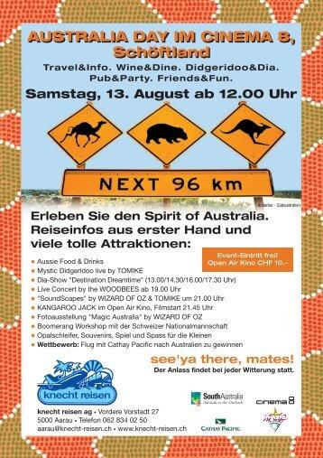 Flyer A5_australia day - Swiss Boomerang Federation