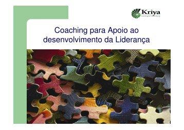 Coaching para Apoio ao desenvolvimento da Liderança - Swisscam
