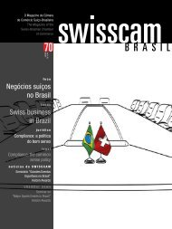 Negócios suíços no Brasil Swiss business in Brazil - Swisscam