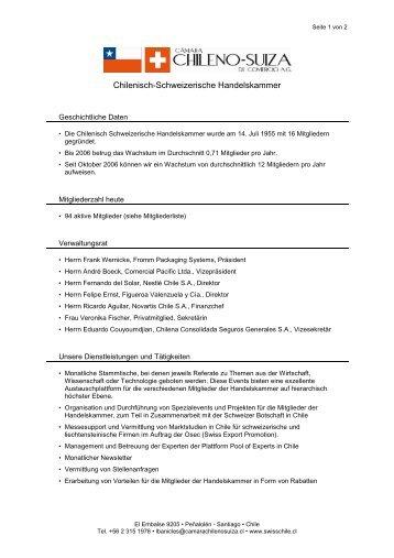 Profil CCHSC Deutsch