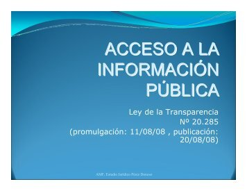 Presentación Nueva Ley de Transparencia por Ana María