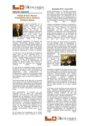 Felipe Ernst - Cámara Chileno-Suiza de Comercio AG